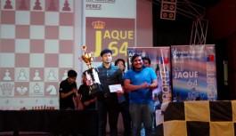MAESTRO FIDE MATÍAS PÉREZ ganó el Torneo Aniversario del Club Jaque 64