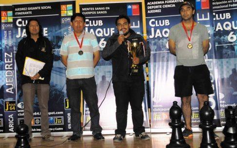 GUILLERMO PAEZ fue el Campeón del XXXV Open de Ajedrez Arica Parinacota 2016