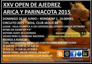 XXV OPEN AJEDREZ ARICA Y PARINACOTA 2015